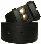 38mm Black Snap Fit Leather Belt
